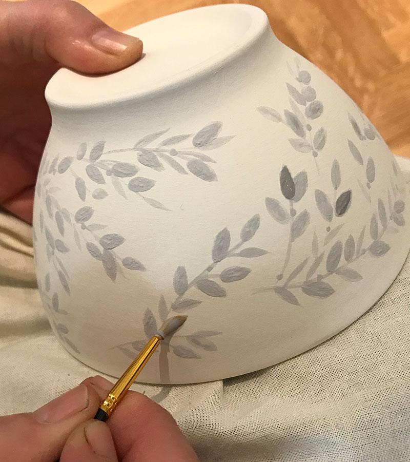 Keramik freihand bemalen